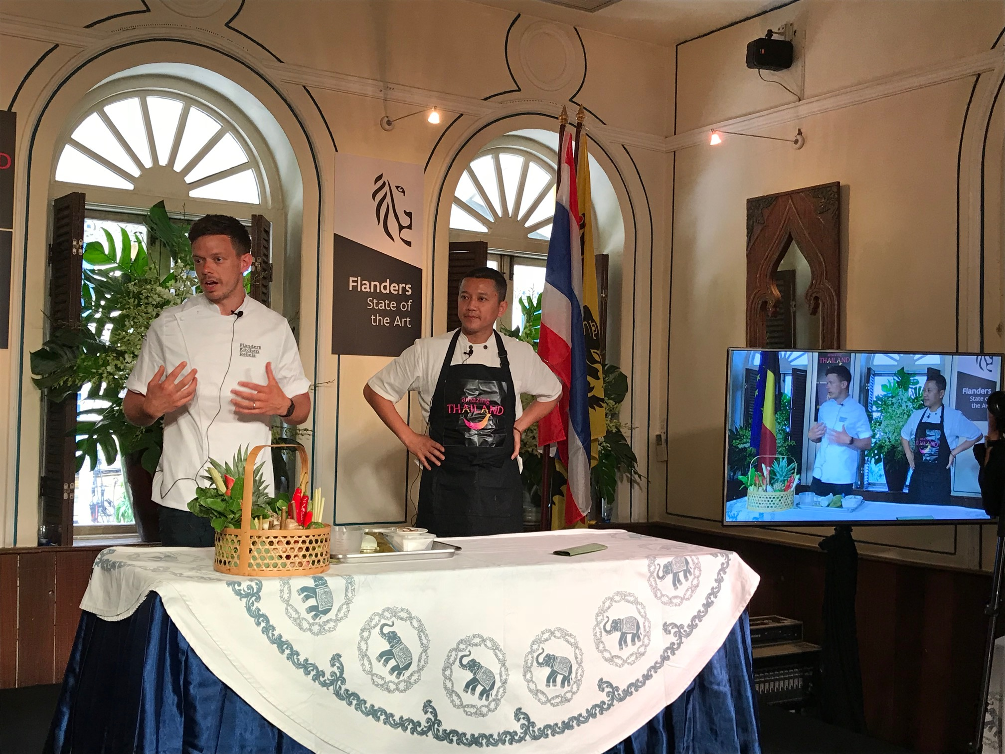 Flanders Kitchen Rebels cook-off launches Thai-Flemish food tourism collaboration