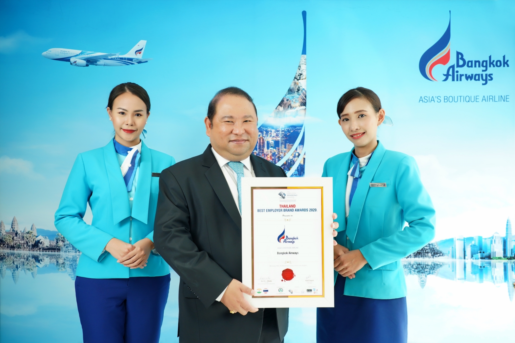 Bangkok Airways Wins Thailand Best Employer Brand Award 2020