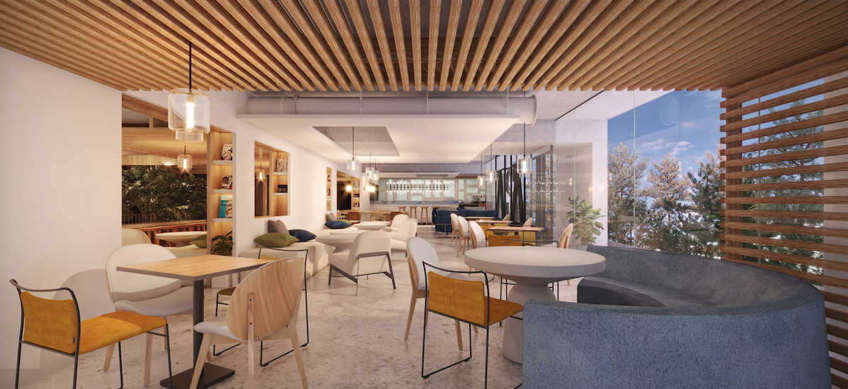 Concept image of a mixed-use hub space at an ASAI Hotels property - photo by ASAI Hotels