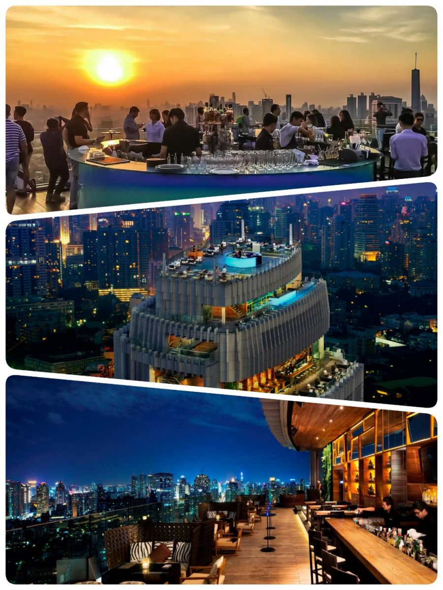 Chill out and relax around Bangkok with the recommended list of the Rooftop bar and restaurants (Part 1)